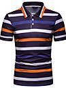 رجالي قميص الجولف قميص تنس الرسم كم قصير مناسب للبس اليومي قمم أصفر برتقالي أحمر