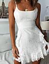 Women\'s Strap Dress Short Mini Dress White Sleeveless Solid Color Summer Hot Elegant 2021 S M L XL