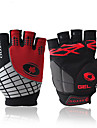 Bike Gloves / Cycling Gloves Windproof Anti-Slip Anti-Shock Fingerless Gloves Sports Gloves Lycra Red Orange Green for Outdoor Exercise Cycling / Bike