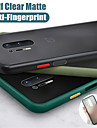 Mint Hybrid Simple Matte Bumper Phone Case For OnePlus8 / OnePlus 8Pro / OnePlus 7T / OnePlus 7T Pro / 7 / 7Pro / 6T / 6  Shockproof Soft TPU Silicone Clear Cover