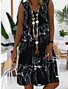 Women\'s A Line Dress Knee Length Dress Blue Black Red Sleeveless Geometric Summer V Neck Hot Casual 2021 S M L XL XXL 3XL