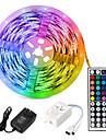 5m Flexible LED Strip Lights Light Sets RGB Tiktok Lights 3528 SMD 8mm RGB Remote Control RC Cuttable Dimmable 100-240 V Linkable Self-adhesive Color-Changing IP44