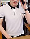 Herren Golfhemd Tennishemd Grafik Buchstabe Kurzarm Alltag Schlank Oberteile Geschaeftlich Grundlegend Hemdkragen Rosa Grau Khaki