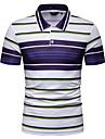 رجالي قميص الجولف قميص تنس الرسم كم قصير مناسب للبس اليومي قمم أزرق أصفر