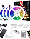 ZDM 20M(4*5M) LED Light Strips RGB Tiktok Lights App Intelligent Control Bluetooth Music Sync Waterproof Flexible 5050 SMD 600 LEDs IR 24 Key Bluetooth Controller with Installation Package 12V 6A Adap