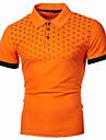 رجالي قميص الجولف قميص تنس منقط الرسم قياس كبير طباعة كم قصير مناسب للبس اليومي قمم أساسي أناقة الشارع قبعة القميص أزرق نبيذ برتقالي / عمل