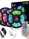 ZDM® 3x5M LED Strip Lights RGB Tiktok Lights Flexible 900 LEDs 2835 SMD 8mm 1 To 3 Cable Connector with IR 44 Key Double Outlet Controller DC12V
