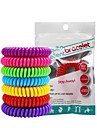 20pcs Mosquito Repellent Bracelets Mosquito Repellent Wristbands Portable Non Toxic For Home Traveling Indoor Outdoor Adults Kids Teenager Baby