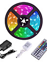 ZDM 5M 300 x 2835 8mm Lights LED Strip Lights RGB Tiktok Lights Flexible and IR 44Key Remote Control Linkable Self-adhesive Color-Changing