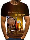 Herre T-Shirts T-shirt Skjorte 3D-udskrivning Grafisk -l Plusstørrelser Flettet Trykt mønster Kortærmet Daglig Toppe Basale Designer Gade 3D Rund hals Gul / Sommer / overdrevet