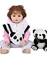 FeelWind 18 tum Reborn-dockor Baby- och småbarnsleksak Reborn Toddler Doll Babyflickor Gåva Gulligt Vackert Föräldra-Barninteraktion Tippade och förseglade naglar Full Body Silicone med kläder och