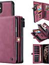 Caseme新しい多機能ビジネス高級革磁気フリップケースiphone 11/11プロ/ 11プロマックスウォレットカードスロットスタンド2-in-1取り外し可能なウォレット電話カバー