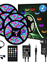 65ft  4x 5 Meter Music Synchronous Happy Multicolour Light Strip 2835 RGB LED Flexible Light Strip with 20 key IR Controller Optional with Adapter Kit DC12V
