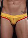 Men\'s 1 Piece Basic G-string Underwear - Normal Low Waist Yellow Gray S M L