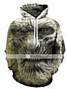 Ανδρικά Φούτερ με Κουκούλα Κινούμενα σχέδια Γραφική 3D Με Κουκούλα Απόκριες Αργίες Σαββατοκύριακο Μοντέρνο Απόκριες Φούτερ Φούτερ Ουράνιο Τόξο