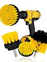 3pcs Electric Brush Nylon Round Cleaning Brush for Bathtub Carpet Glass Tires Toilet Floors Rust Remover Car