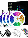 20M(4*5M) LED Light Strips RGB Tiktok Lights SMD3528 1200 LEDs 8mm Strip Flexible Light LED Tape Nonwaterproof DC 12V with 44Key IR Remote Controller Kit