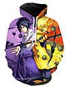 Inspirado por Naruto Naruto Uzumaki Uchiha Sasuke Fantasias de Cosplay Moletom Poliester Estampado Estampado Moletom Para Homens / Mulheres