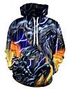 Men\'s Hoodie Black 3D / Graphic / Character Statement / Casual Black US32 / UK32 / EU40 US34 / UK34 / EU42 US36 / UK36 / EU44 US38 / UK38 / EU46 US40 / UK40 / EU48 US42 / UK42 / EU50 US44 / UK44
