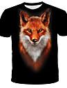T-shirt Chemise Homme Graphique Animal Imprime Manches Courtes Quotidien Vacances Standard Spandex Chic de Rue Exagere Col Rond