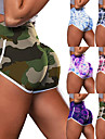 Women\'s High Waist Yoga Shorts Scrunch Butt Ruched Butt Lifting Shorts Tummy Control Butt Lift Breathable Camo / Camouflage Purple Light Purple Pink Nylon Yoga Fitness Running Sports Activewear High