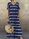여성용 시프트 드레스 맥시 드레스 퍼플 와인 그레이 더스티 블루 블랙 브라운 네이비 블루 짧은 소매 줄무늬 여름 V 넥 뜨거운 캐쥬얼 2021 S M L XL XXL 3XL 4XL