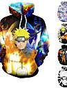 Inspirado por Naruto Fantasias de Cosplay Moletom Poliester Estampado Estampado Moletom Para Homens / Mulheres
