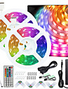 50ft 2x7.5M No-waterproof 5050 RGB Full color LED Strip Lights with 44-Key IR Double Outlet Remote and Adapter Light Strip Kit DC12V