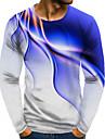 T-shirt Chemise Homme Graphique Grandes Tailles Imprime Manches Longues Quotidien Fin de semaine Standard Polyester basique Exagere Col Rond