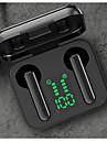 litbest l12 bluetooth 5.0イヤフォンインテリジェント音声アシスタント自動接続タッチ認識イヤホンledバッテリーディスプレイhifi音質ヘッドセット充電コンパートメント