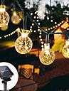 Solar String Lights Solar Outdoor Light 12M 100LED Crystal Ball Bubble Lamp Fairy String Lights Outdoor String Lights 8 Function Outdoor Waterproof for Wedding Garden Lawn Christmas Decoration