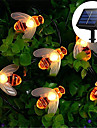 Solar Bee LED Light String Solar Outdoor Light 6.5M 30LED Fairy String Lights Outdoor String Lights 8 Function Outdoor Waterproof For Wedding Garden Lawn Christmas Decoration Solar Lamp