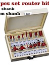 15 Piece Cutter Set 1/4 Shank Red
