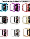 Double Rows Bling Diamonds Watch Case for Apple Watch Series 5/4/3/2/1 Shiny Cover Crystal Bumper PC Plated Hard Protective Frame