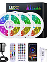 Mashang 5m 10m 15m 20m rgb led strip lights music sync 12v waterproof led led 30led / m 5050 smd color change led light with bluetooth controller and adapter for bedroom home tv back light diy deco