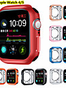 Screen Protector Case for Apple Watch Series 5 4 44MM 40MM TPU Rugged Bumper Case Cover All-Around Protective Plated Bumper Shell Accessories Scratch-Proof Compatible