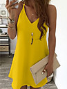 Women\'s Strap Dress Short Mini Dress White Black Blue Yellow Blushing Pink Light Blue Sleeveless Clothing Summer V Neck Hot Sexy 2021 S M L XL XXL 3XL 4XL 5XL