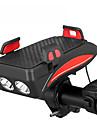 LED Luces para bicicleta Luz LED Soporte Ajustable Luz de cuerno de bicicleta Bicicleta Ciclismo Impermeable Ajustable Anti golpe LED Li-polimero Bateria Li-ion Recargable 100 lm Alimentado por USB