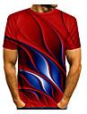 Męskie Podkoszulek Koszula Graficzny Nadruk Krótki rękaw Codzienny Najfatalniejszy Podstawowy Okrągły dekolt Wino