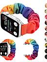 elastický pásek pro hodinky Apple 5 žen tkané plátno plátno popruh scrunchies náramek příslušenství pro iwatch série 5 4 3 2 1
