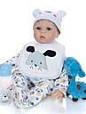 KEIUMI 22 tum Reborn-dockor Baby- och småbarnsleksak Reborn Toddler Doll Babypojkar Gåva Gulligt Vackert Föräldra-Barninteraktion Tippade och förseglade naglar Halv silikon och tygkropp med kläder