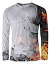 T-shirt Chemise Homme Graphique Flamme Imprime Manches Longues Quotidien Sortie Standard Rayonne Polyester basique Elegant Col Rond