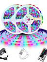 LED Strip Light (2x5M)10M 32.8ft 2835 RGB 600leds 8mm Strips Lighting Flexible Color Changing with 44 Key IR Remote Ideal for Home Kitchen Christmas TV Back Lights DC 12V