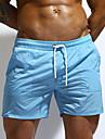Pánské Kalhotky Plavky Jednobarevné Plavky Plavky Bílá Černá Vodní modrá