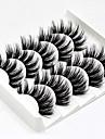 5 pairs 3d false eyelashes handmade ultra light synthetic fibers 3d mink fake eyelashes reusable soft nature fluffy wispies long lashes with volume makeup eye lash extension set (3d-b)