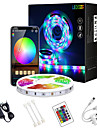 LED strip light wi-fi 32,8 pes 10m app controle wi-fi inteligente 5050 rgb (1 * 10m) LED strip light com ir 24 controlador de tecla para iluminacao domestica DIY