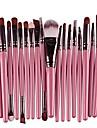 20 pcs makeup brush set tools make-up wool kit 1pc powder puff & #40;2018 green& #41;