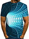 Hombre Tee Camiseta Impresion 3D Grafico de impresion en 3D Estampado Manga Corta Diario Tops Basico De Diseno Exagerado Escote Redondo Azul Piscina Morado Rojo