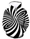 สำหรับผู้ชาย หมวก กราฟฟิค ฮู้ด ทุกวัน ไปเที่ยว พิมพ์ 3D เสื้อฮู้ด เสื้อ ขาว