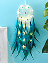 Dreamcatcher LED Feather Night Light Handmade Christmas Gift Wind Chime Ornaments Holiday Christmas Wedding Events Decoration Valentine\'s Day Birthday Gift